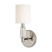 Hudson Valley Lighting Glacier 1 Light Wall Sconce in Polished Nickel 6121-PN