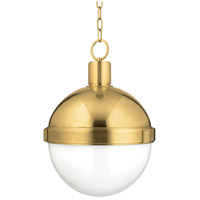 Hudson Valley Lighting Lambert 1 Light Pendant in Aged Brass 615-AGB