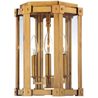 Roxbury 3 Light 10 inch Aged Brass Semi Flush Ceiling Light