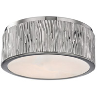 Crispin LED 9 inch Polished Nickel Flush Mount Ceiling Light, Spanish Alabaster, Small