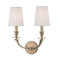 Hudson Valley Lighting Avalon 2 Light Wall Sconce in Aged Brass 6212-AGB