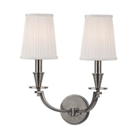 Hudson Valley Lighting Avalon 2 Light Wall Sconce in Historic Nickel 6212-HN