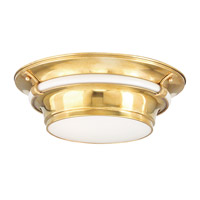 Hudson Valley Lighting Ashland 3 Light Flush Mount in Aged Brass 6216-AGB