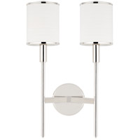 Aberdeen 2 Light 12 inch Polished Nickel Wall Sconce Wall Light