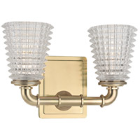 Hudson Valley 6222-AGB Westbrook 2 Light 12 inch Aged Brass Bath Vanity Wall Light
