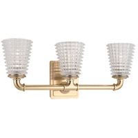 Westbrook 3 Light 20 inch Aged Brass Bath Vanity Wall Light