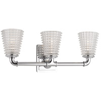 Westbrook 3 Light 20 inch Polished Chrome Bath Vanity Wall Light