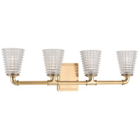 Hudson Valley 6224-AGB Westbrook 4 Light 28 inch Aged Brass Bath Vanity Wall Light