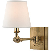 Hudson Valley Lighting Hillsdale 1 Light Wall Sconce in Aged Brass 6231-AGB