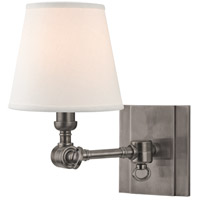 Hudson Valley Lighting Hillsdale 1 Light Wall Sconce in Historic Nickel 6231-HN