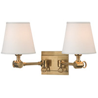 Hudson Valley Lighting Hillsdale 2 Light Wall Sconce in Aged Brass 6232-AGB