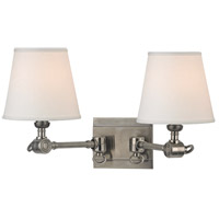 Hillsdale 2 Light 18 inch Historic Nickel Wall Sconce Wall Light