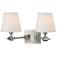 Hudson Valley Lighting Hillsdale 2 Light Wall Sconce in Polished Nickel 6232-PN