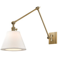 Hudson Valley Lighting Hillsdale 1 Light Wall Sconce in Aged Brass 6234-AGB