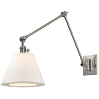 Hudson Valley Lighting Hillsdale 1 Light Wall Sconce in Polished Nickel 6234-PN