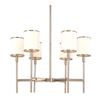 Hudson Valley 626-PN Aberdeen 6 Light 26 inch Polished Nickel Chandelier Ceiling Light