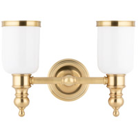 Chatham 2 Light 15 inch Aged Brass Bath And Vanity Wall Light