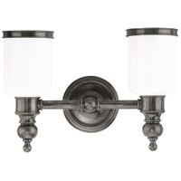 Chatham 2 Light 15 inch Antique Nickel Bath And Vanity Wall Light