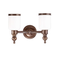 Chatham 2 Light 15 inch Distressed Bronze Bath And Vanity Wall Light