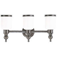 Chatham 3 Light 21 inch Antique Nickel Bath And Vanity Wall Light