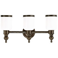 Chatham 3 Light 21 inch Distressed Bronze Bath And Vanity Wall Light
