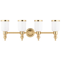Chatham 4 Light 29 inch Aged Brass Bath And Vanity Wall Light
