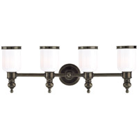 Chatham 4 Light 29 inch Distressed Bronze Bath And Vanity Wall Light