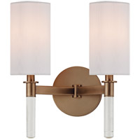 Hudson Valley Lighting Wylie 2 Light Wall Sconce in Brushed Bronze 6312-BB