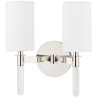 Hudson Valley Lighting Wylie 2 Light Wall Sconce in Polished Nickel 6312-PN