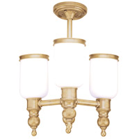 Chatham 3 Light 16 inch Aged Brass Semi Flush Ceiling Light