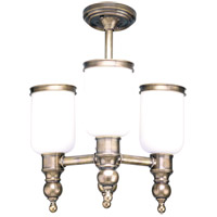 Chatham 3 Light 16 inch Antique Nickel Semi Flush Ceiling Light