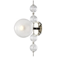 Hudson Valley 6400-PN Calypso 1 Light 8 inch Polished Nickel Wall Sconce Wall Light
