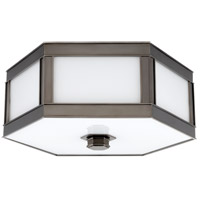Nassau 1 Light 10 inch Historic Nickel Flush Mount Ceiling Light