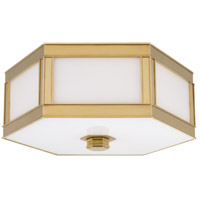 Nassau 2 Light 13 inch Aged Brass Flush Mount Ceiling Light