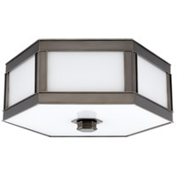 Nassau 2 Light 13 inch Historic Nickel Flush Mount Ceiling Light