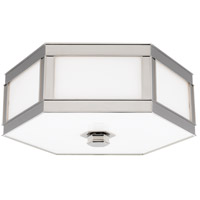 Nassau 2 Light 13 inch Polished Nickel Flush Mount Ceiling Light