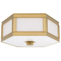 Nassau 3 Light 16 inch Aged Brass Flush Mount Ceiling Light
