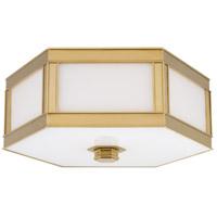 Hudson Valley 6416-AGB Nassau 3 Light 16 inch Aged Brass Flush Mount Ceiling Light