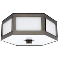 Nassau 3 Light 16 inch Historic Nickel Flush Mount Ceiling Light