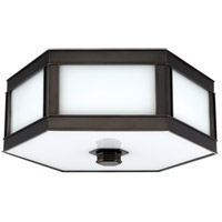 Nassau 3 Light 16 inch Old Bronze Flush Mount Ceiling Light
