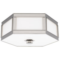 Nassau 3 Light 16 inch Polished Nickel Flush Mount Ceiling Light