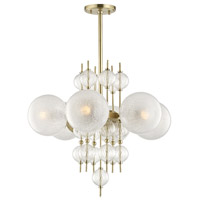 Calypso 6 Light 27 inch Aged Brass Chandelier Ceiling Light