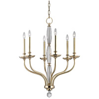 Hudson Valley 6428-AGB Lauderhill 6 Light 28 inch Aged Brass Chandelier Ceiling Light