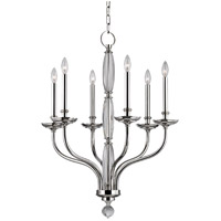 Hudson Valley 6428-PN Lauderhill 6 Light 28 inch Polished Nickel Chandelier Ceiling Light