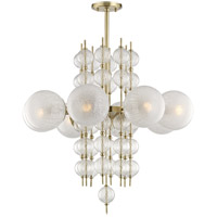 Calypso 8 Light 34 inch Aged Brass Chandelier Ceiling Light