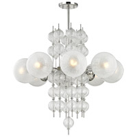 Calypso 8 Light 34 inch Polished Nickel Chandelier Ceiling Light