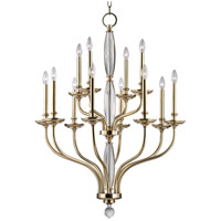 Lauderhill 12 Light 34 inch Aged Brass Chandelier Ceiling Light