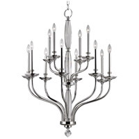 Hudson Valley Lighting Lauderhill 12 Light Chandelier in Polished Nickel 6434-PN