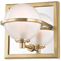 Hudson Valley 6441-AGB Axiom LED 6 inch Aged Brass Bath Vanity Wall Light