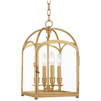 Hudson Valley Lighting Oxford 4 Light Pendant in Aged Brass 6480-AGB
